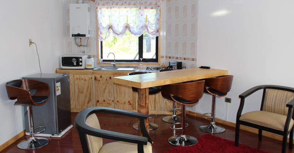 Interior cabaña COIRON